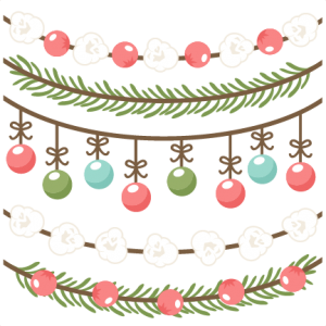 Christmas Borders Scrapbook Clip Art Cut Outs For Cricut Cute Svg Files Free Svgs