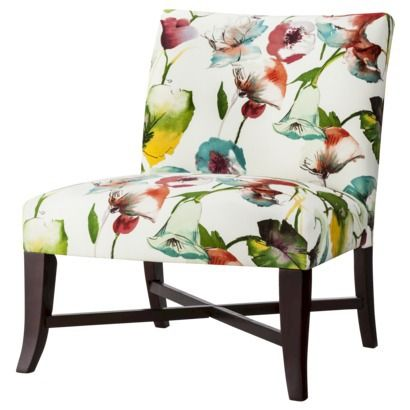 Owen X Base Upholstered Armless Chair Multi Colored