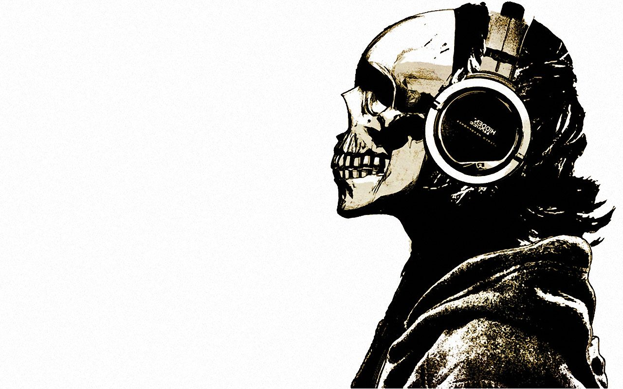 skull with headphones wallpaper | Other Wallpapers Skull Headphones /