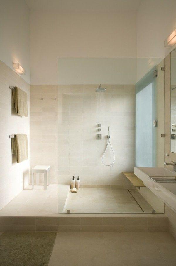 begehbare-duschen-badezimmer-ideen Ideen Pinterest - ideen für badezimmer