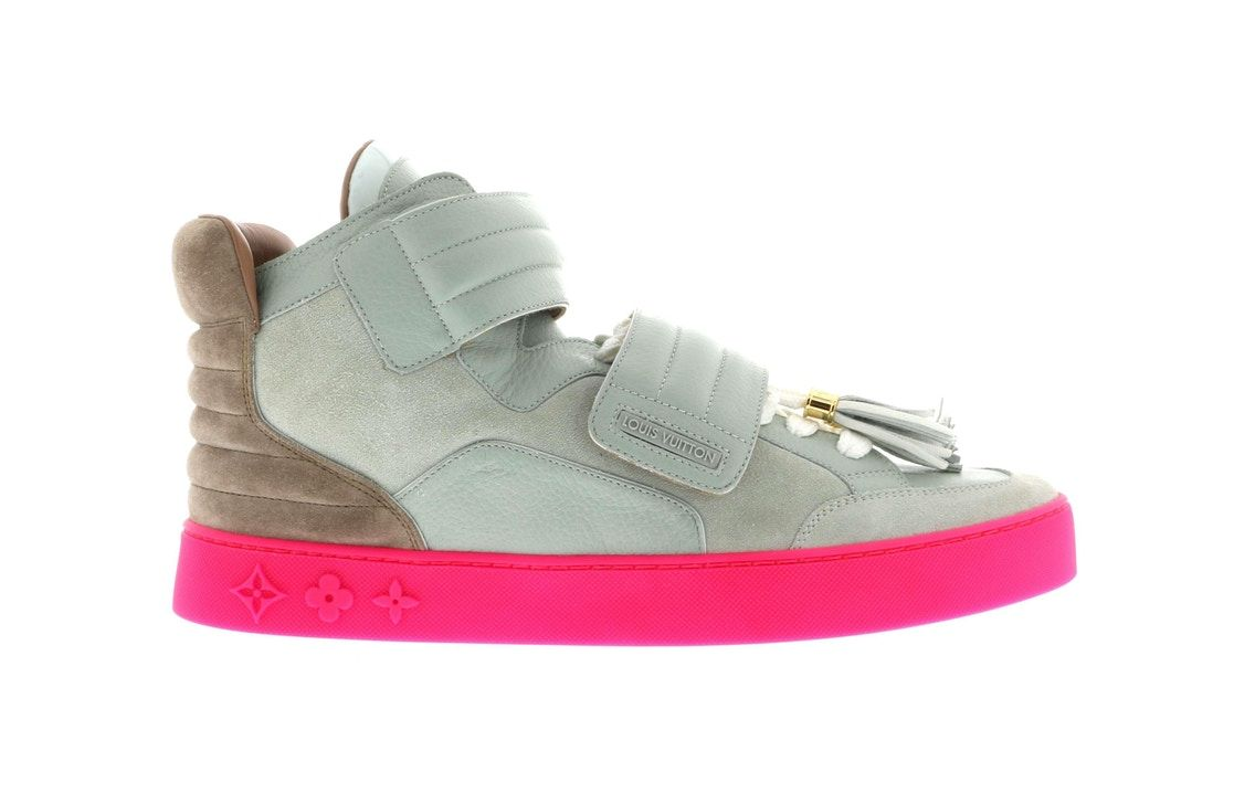 Louis Vuitton Jaspers Kanye Patchwork Grey Pink Louis Vuitton Louis Vuitton Sneakers Vuitton