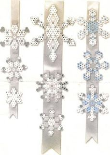 SKOLELYST: Perlemønstre med julemotiv