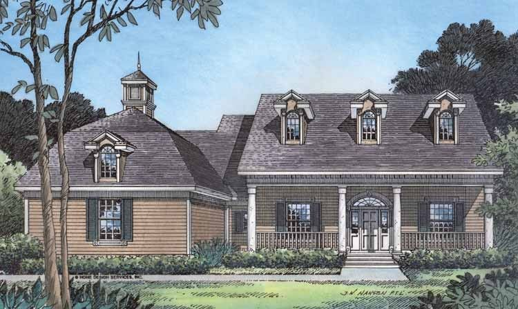 Eplans Farmhouse House Plan - Traditional Southern Grace - 2626 Square Feet and 4 Bedrooms from Eplans - House Plan Code HWEPL02824
