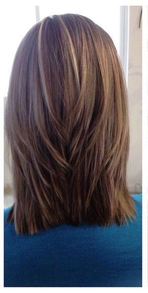 Triangular Layers Medium Hair Styles Hair Styles Long Hair Styles