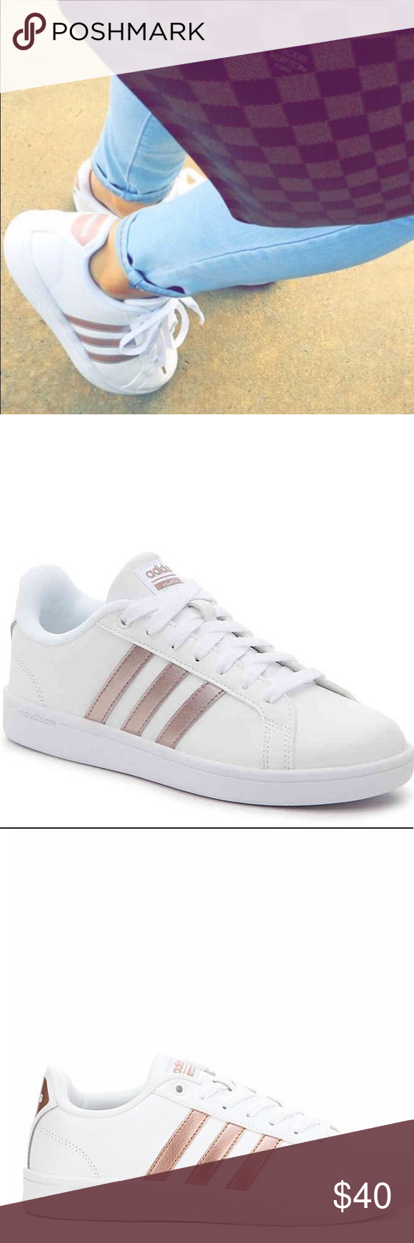44f25832eab8 ADIDAS ADVANTAGE SNEAKER - WOMEN S Rose Gold 🛍Bundle for great deals 🛍 Smoke   Pet Free Home 🛍Make an Offer! adidas Shoes Sneakers