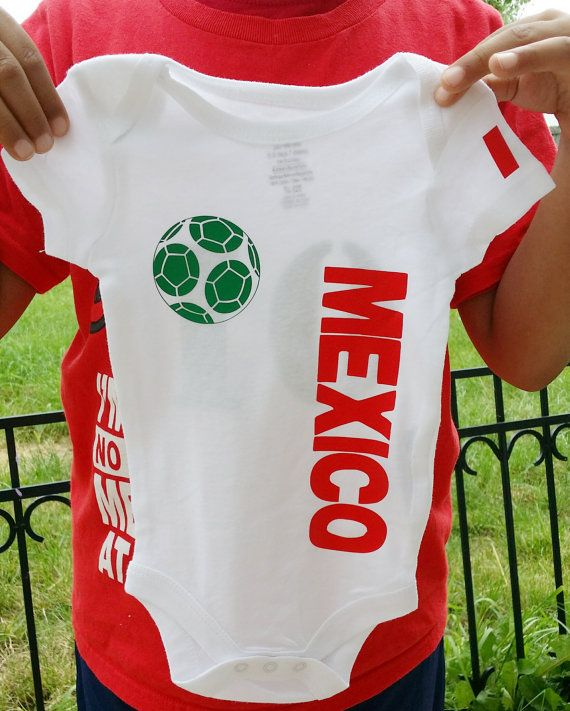 This listing is for 1 - Personalized Mexico Soccer Jersey - Small Design.  The front of the onesie shirt will have your number choice and the back will 6bd41e12941
