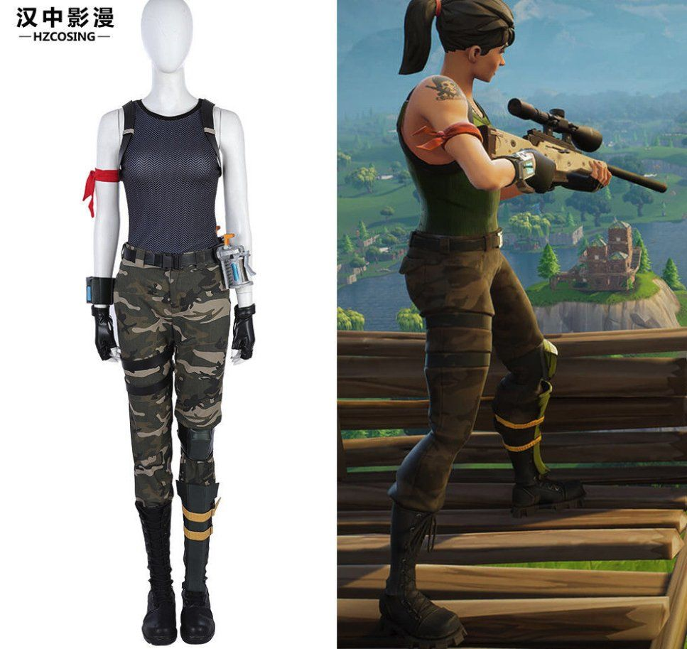 HZYM #Fortnite Special Forces Cosplay Costume Camouflage