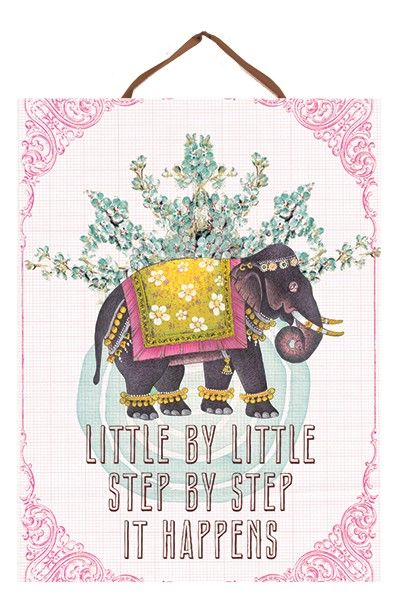 PAPAYA! Art Little Elephant Art Panel Print - Decor - SHOP