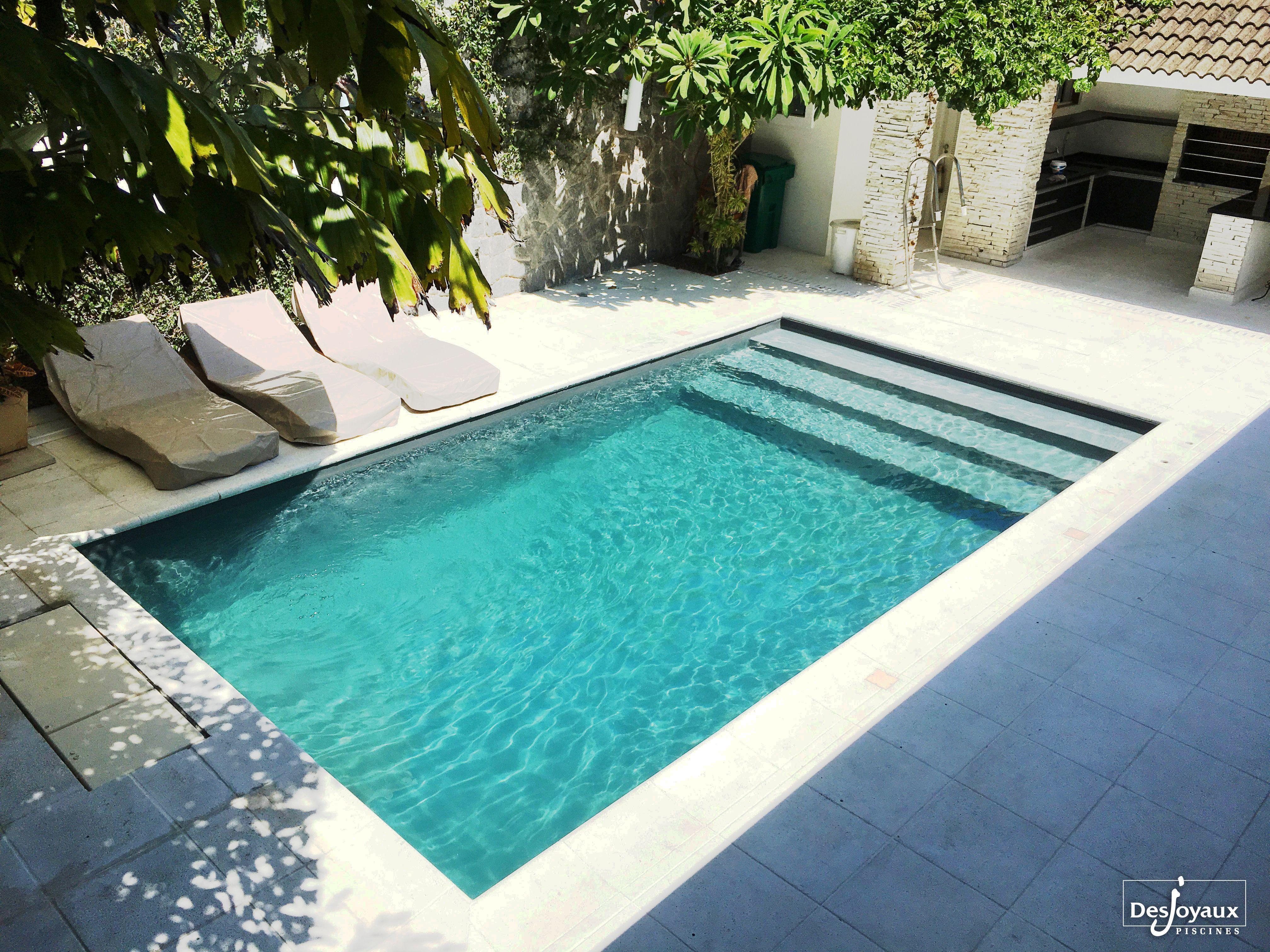 Simplicity And Sobriety For This Beautiful Piscinerectangulaire Backyardplantsideasfl Pools Backyard Inground Backyard Pool Landscaping Small Inground Pool