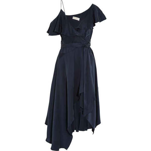 Shipping Discount Sale Discount Explore Zimmermann Woman One-shoulder Ruffled Silk Midi Dress Black Size 2 Zimmermann Cheap Perfect Best Place To Buy Discount Prices Qe5lP