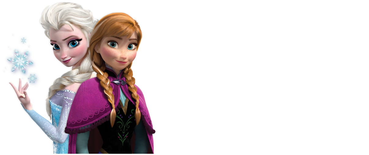 Frozen Anna and Elsa with longer background Cartões