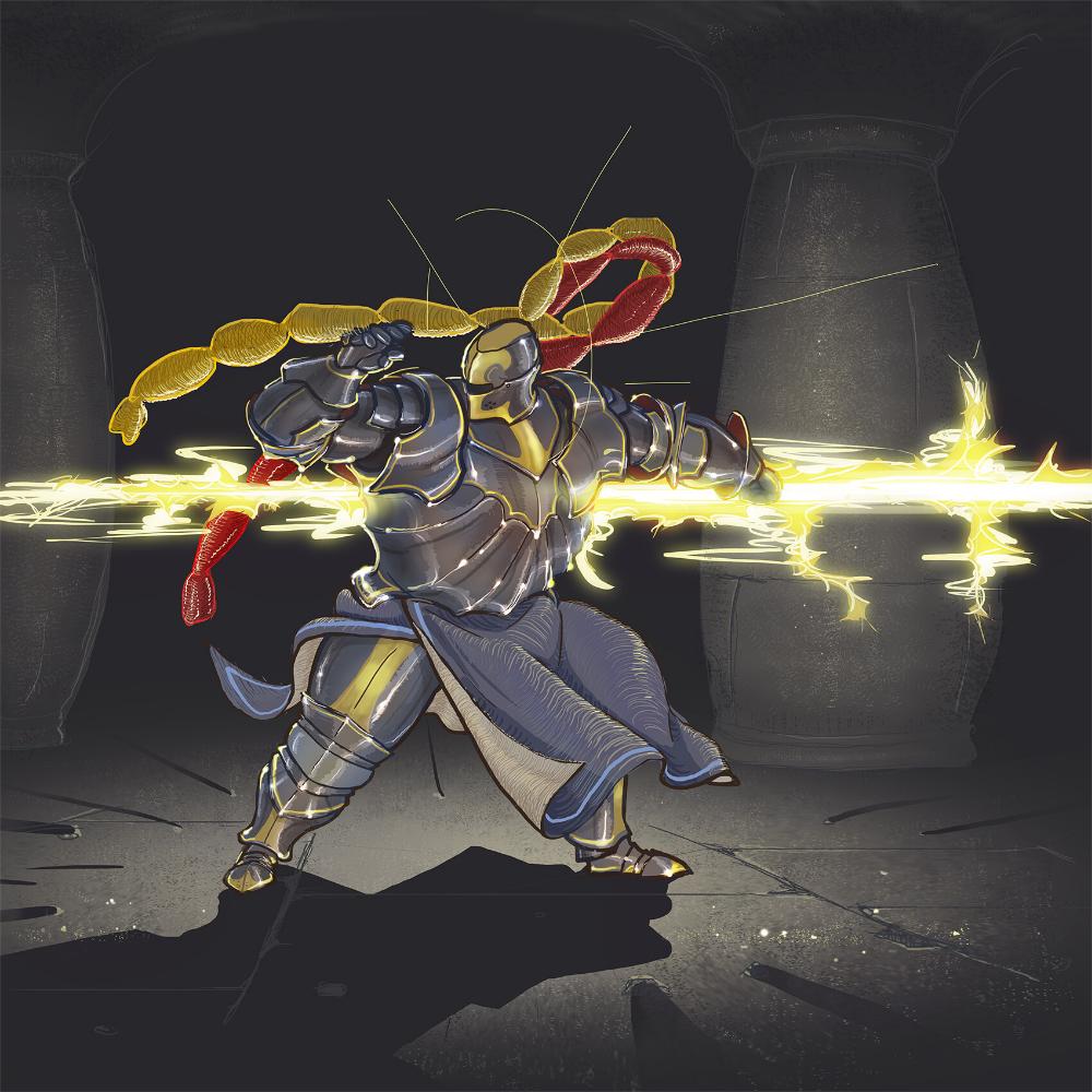 ArtStation Thunder hand, Stvoll Leninheart Monster