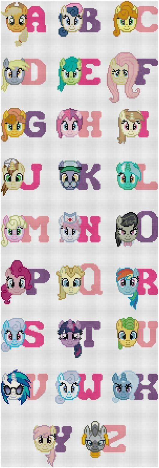 PDF Pattern - My Little Pony Friendship is Magic Alphabet | Pony ...