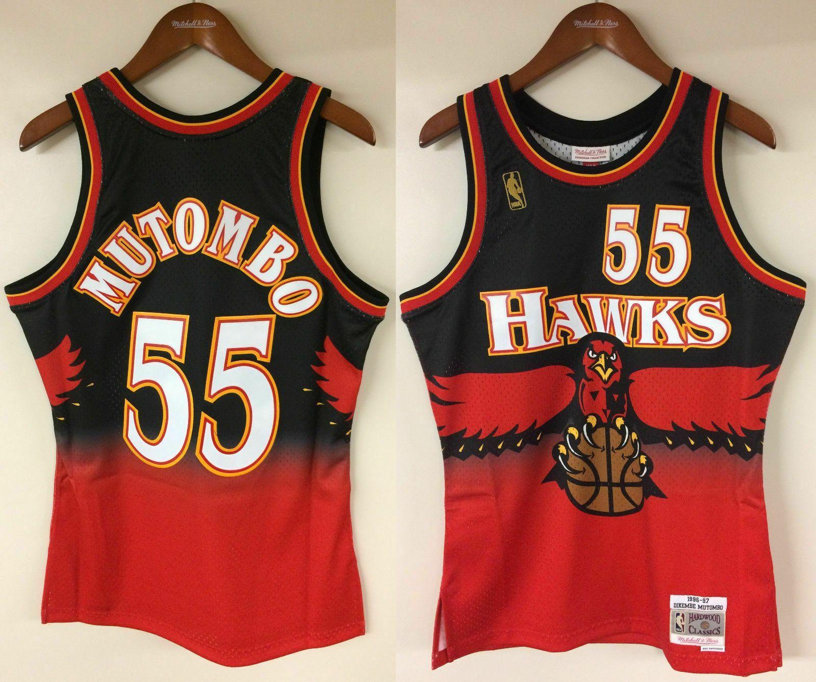 abbef7620 Dikembe Mutombo Atlanta Hawks Mitchell   Ness NBA 1996-1997 Authentic Jersey  HWC