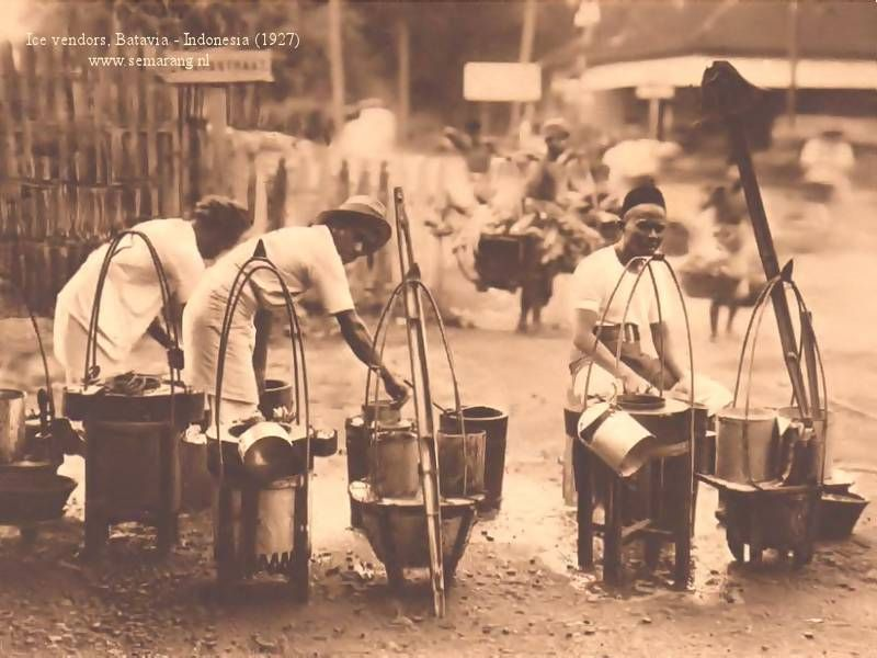 Indonesia Java The City Of Semarang Capital Of The Province Of Central Java Semarang In The Old Days Ice Vendors Indonesia Foto Zaman Dulu Sejarah