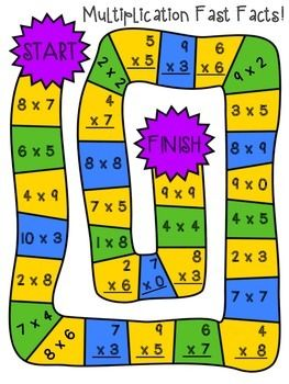 Multiplication And Division Board Games Multiplication Math Board Games Fun Math Centers
