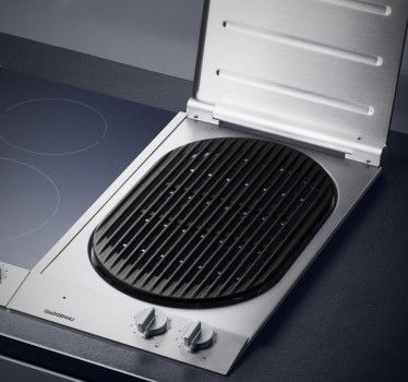 Gaggenau 12 Inch Electric Modular Grill With 2 Independent Elements,  Cast Iron Grill Grid, Open Cast Grill, Lava Stone Container And Grease Drip  Tray