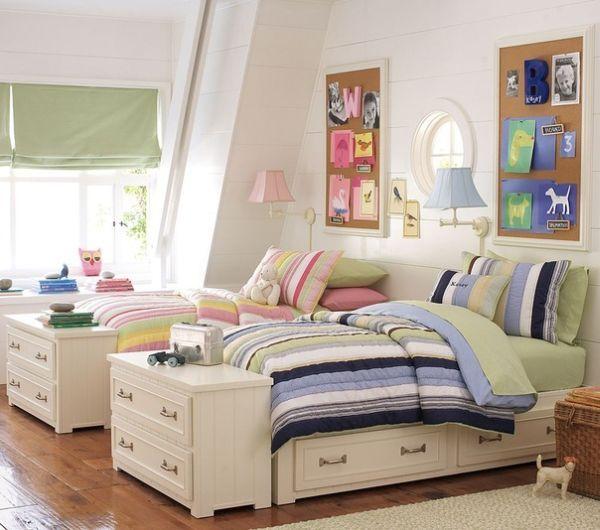 15 idées de chambres pour 2 enfants - Moderne House Dormitorios en