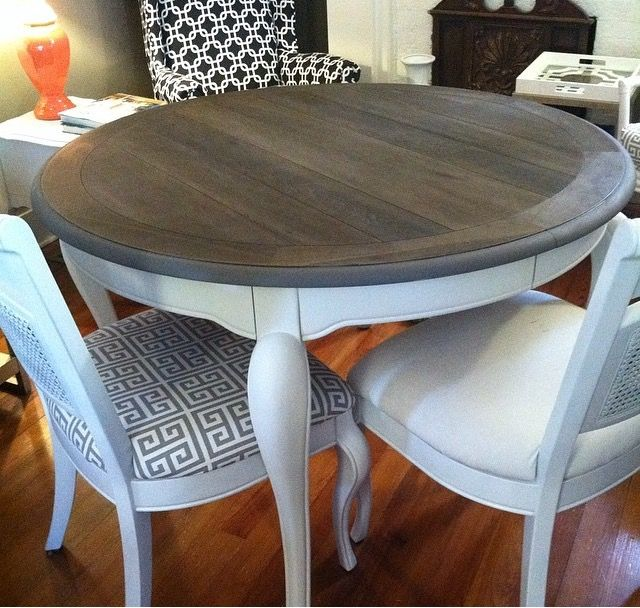 Refinished Dining Room Tables: A Few Years Ago I Refinished An Old Oak Stained Dining