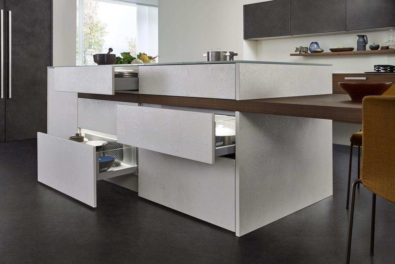 Küchendesign aluminium leicht topos  concrete  keuken  pinterest  concrete kitchen