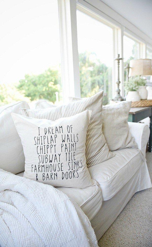 Farmhouse Pillows Farmhouse Decor Sunroom Decorating Home