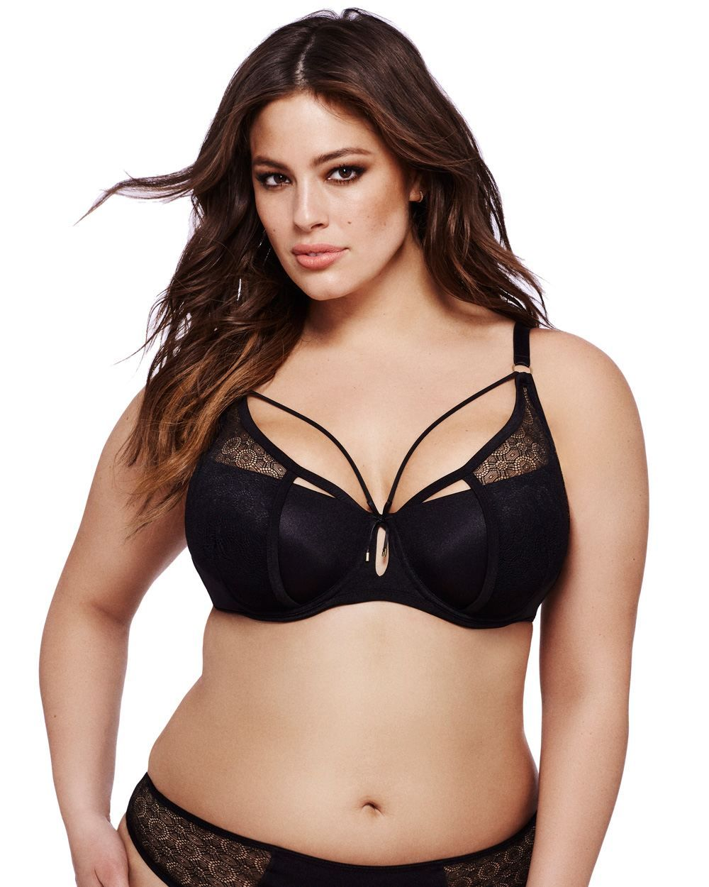 a5df834f7 Say yes to luxurious lingerie with this plus size bra from the Ashley Graham  collection
