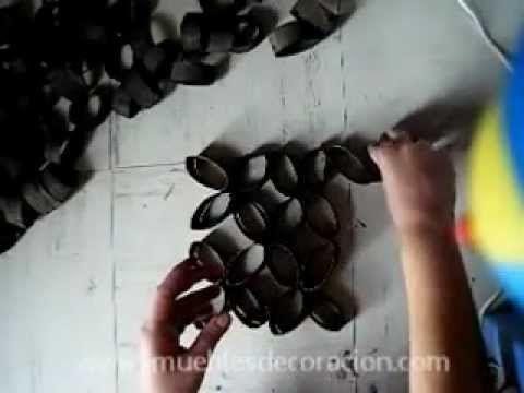 Decoración Adornos reciclando rollos de papel higiénico Rollos de
