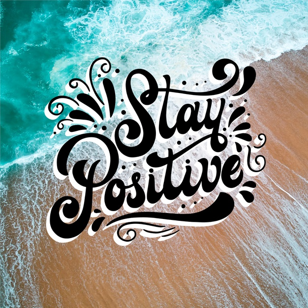 Free Vector | Stay positive message with photo