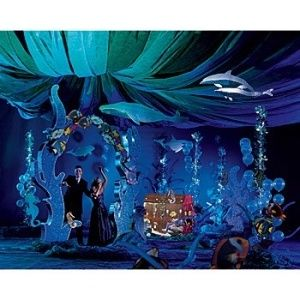 Under the Sea ; ceiling decorations, including hanging ...