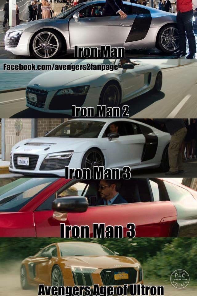 . Tony Stark loves his Audi R8s aND SO DO I YIS   Marvel Comics   Iron