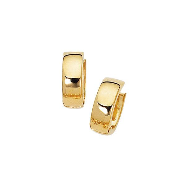14k Solid Yellow Gold Lite Huggy Huggies Earrings Hoops 17mm Ritastephens Huggie