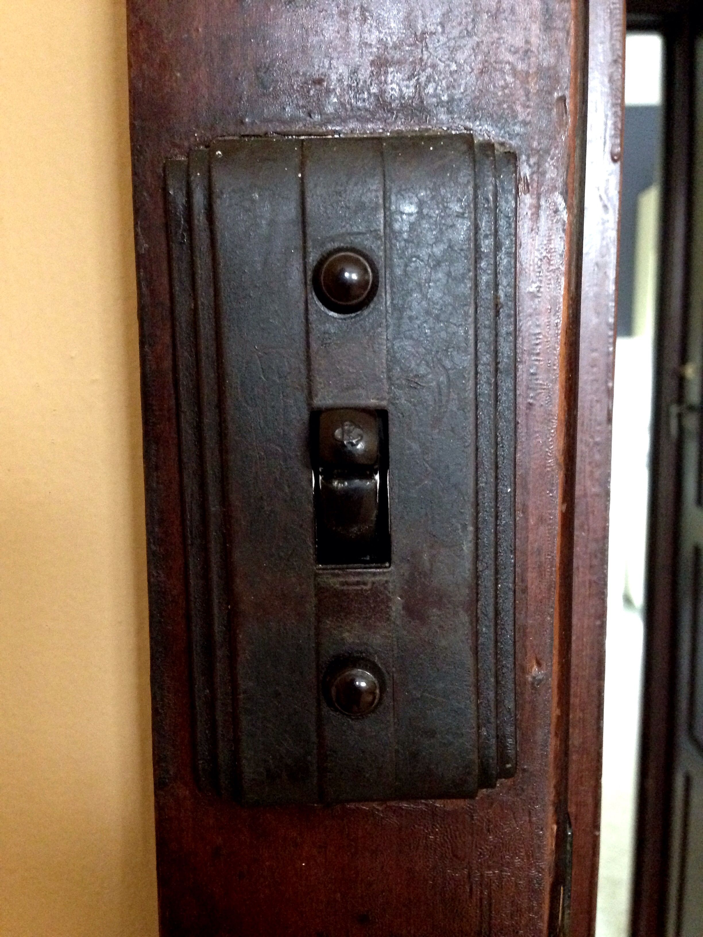 Light Switch Original 1940s Art Deco Bakelite Brown Light Switch Period Lighting Light Fixtures