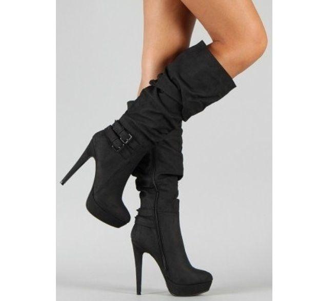 Estas botas negras son formal y perfecto para mi. Es buena para el invierno  o el otoño. Puedes llevar estas botas con la falda y la blusa o el vestido. e74d2b1e6efd3