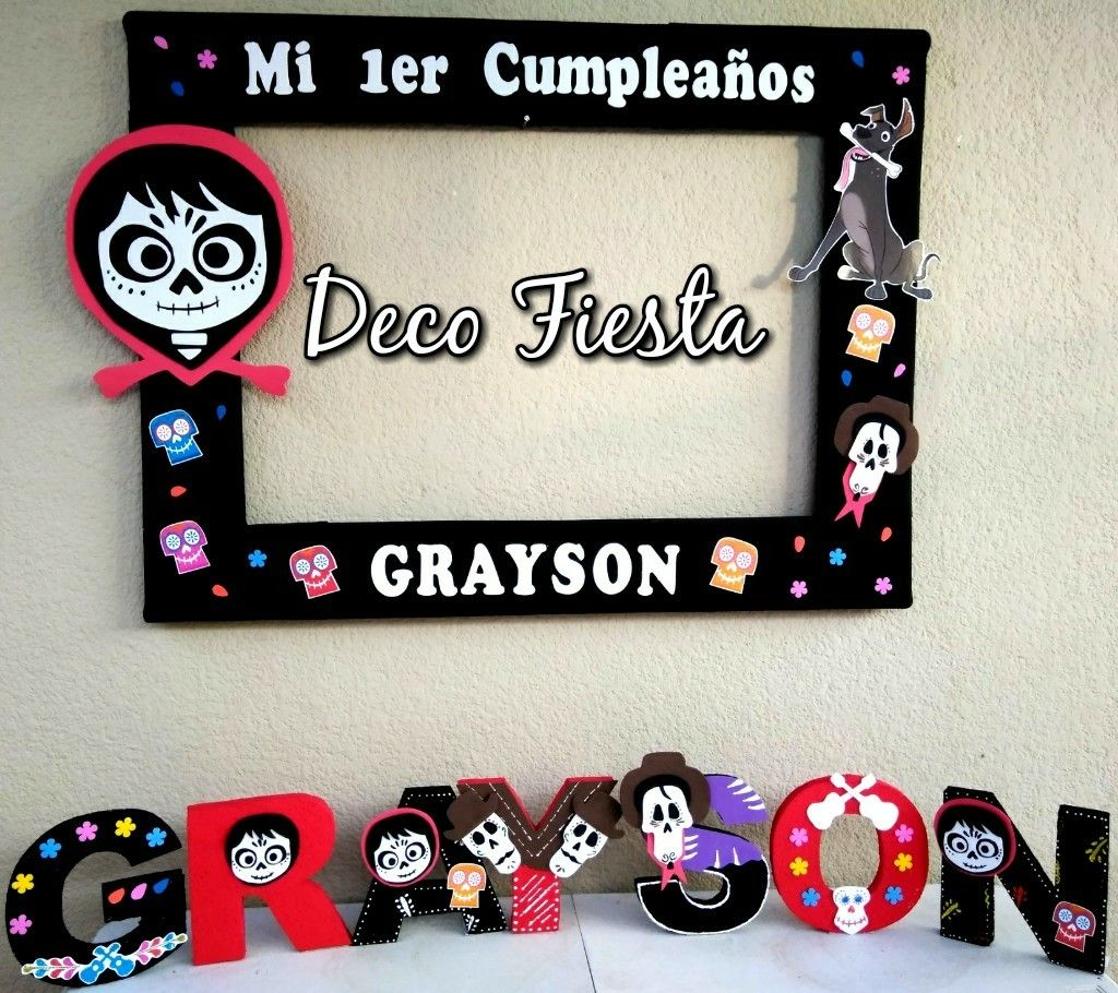 Decorar Marcos De Fotos Coco Letras Decoradas Y Marco Para Fotos Coco In 2019 Coco