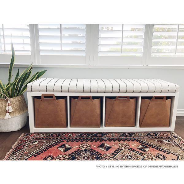 Toulouse Foam Bench Cushion Onyx Ikea Hack Kallax Shelf