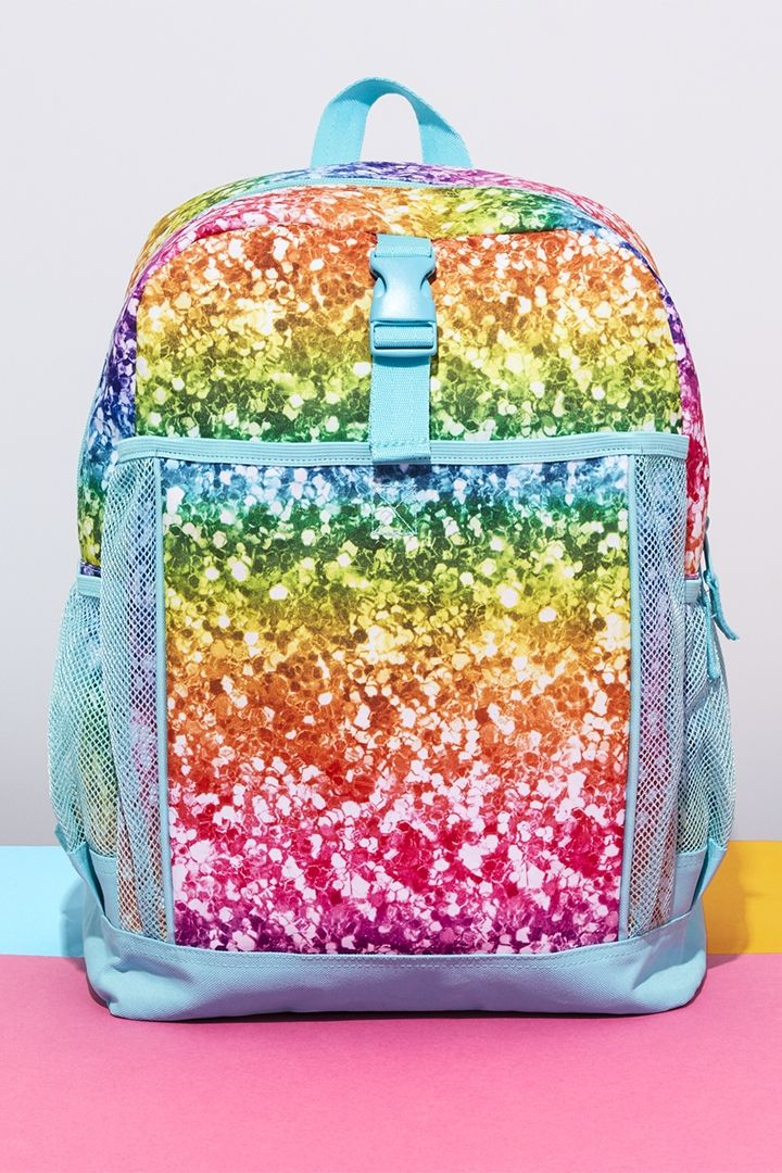 Girls  fashion   Backpack   Glitter   Rainbow   The Children s Place ... 01476d2df5