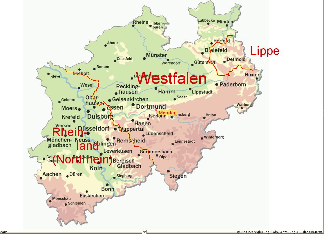 Nrw Landkarte