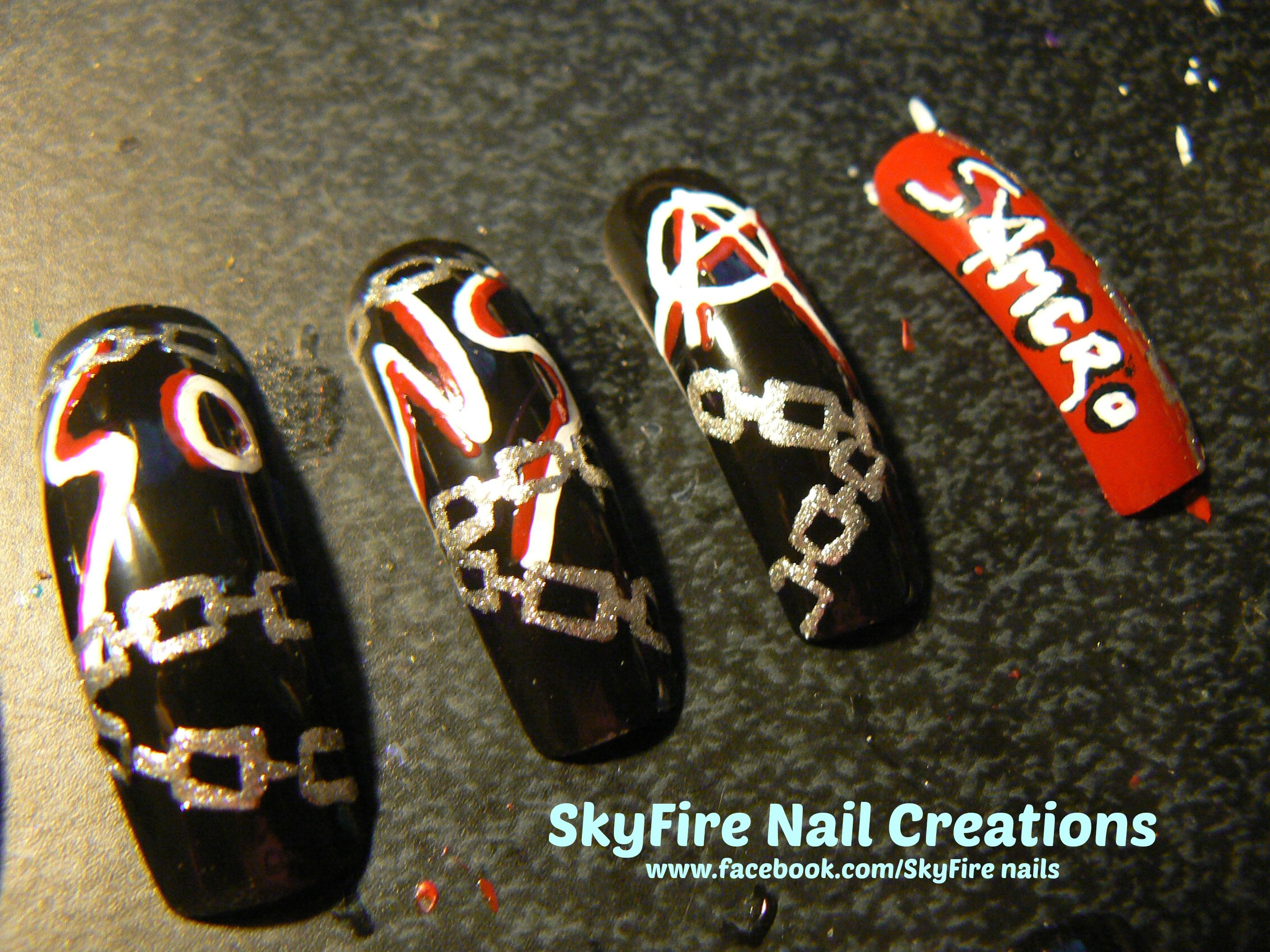 Sons of Anarchy Nails! | TV/Cartoon Nails | Pinterest ...