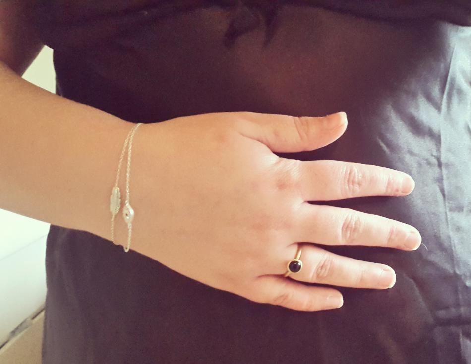 Styling by denisebmadsen showing Bubble Ring Black Medium Gold, Evil Eye Bracelet Silver and Plume Bracelet Silver #jewellery #Jewelry #bangles #amulet #dogtag #medallion #choker #charms #Pendant #Earring #EarringBackPeace #EarJacket #EarSticks #Necklace #Earcuff #Bracelet #Minimal #minimalistic #ContemporaryJewellery #zirkonia #Gemstone #JewelleryStone #JewelleryDesign #CreativeJewellery #OxidizedJewellery #gold #silver #rosegold #hoops #armcuff #jewls #jewelleryInspiration #JewelleryInspo…