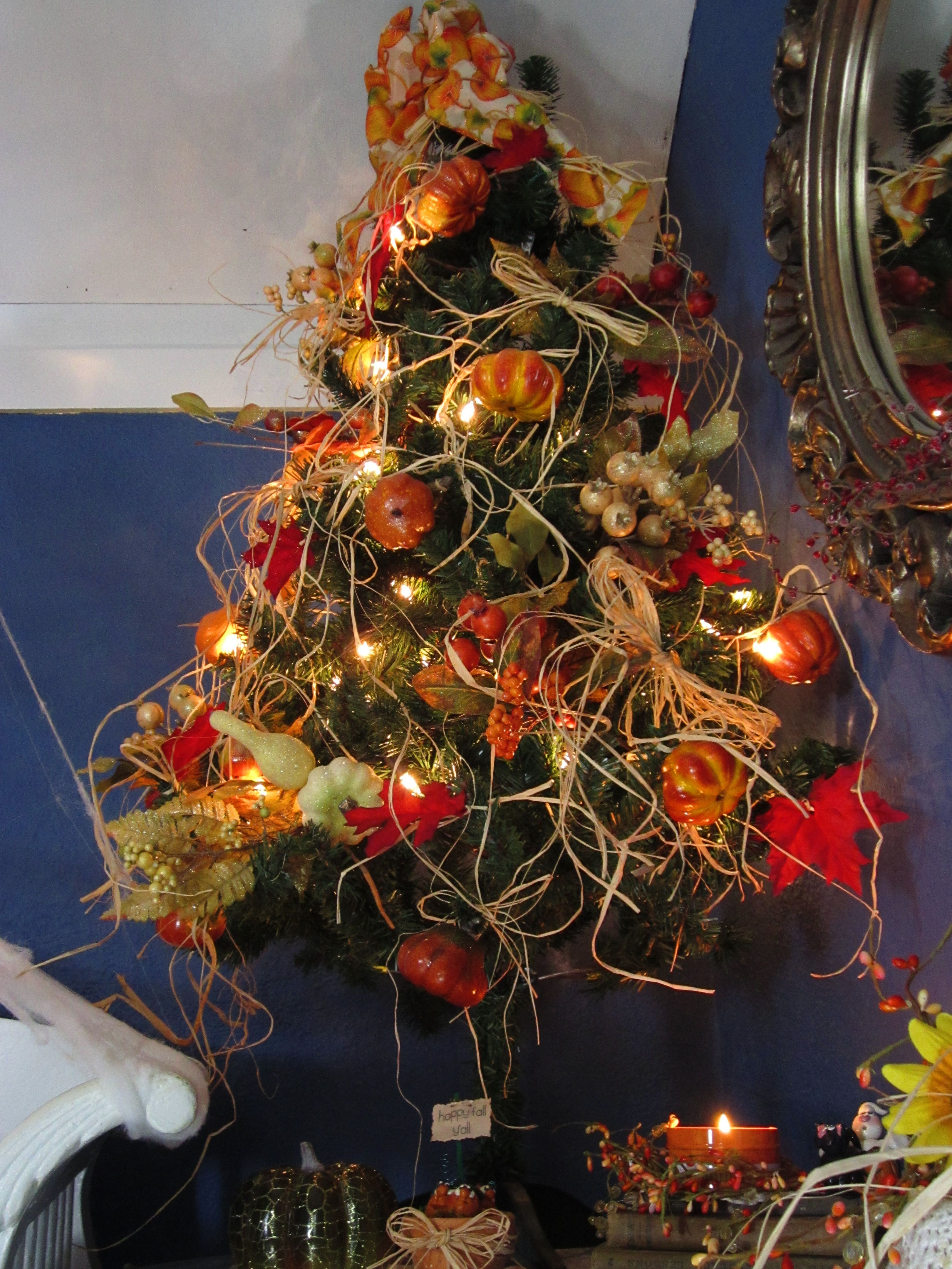 My Fall 'Christmas Around the Year' Tree! Decorated with ...