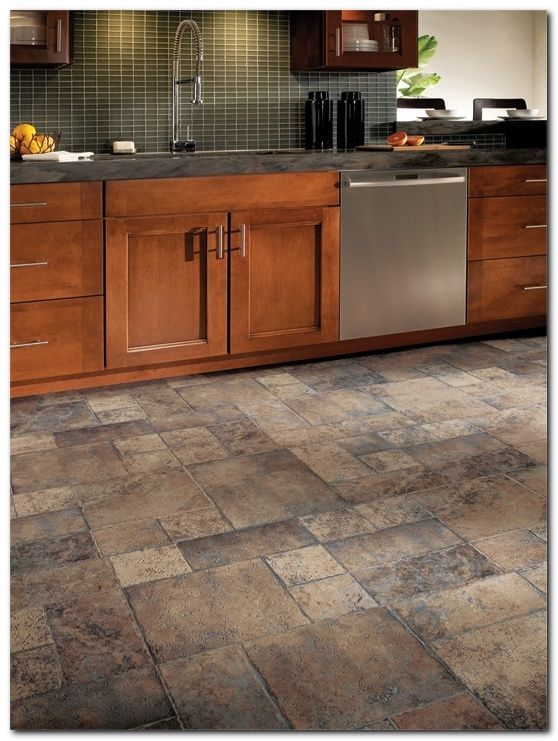 Tile Ideas For Kitchen Floors With Oak Cabinets
