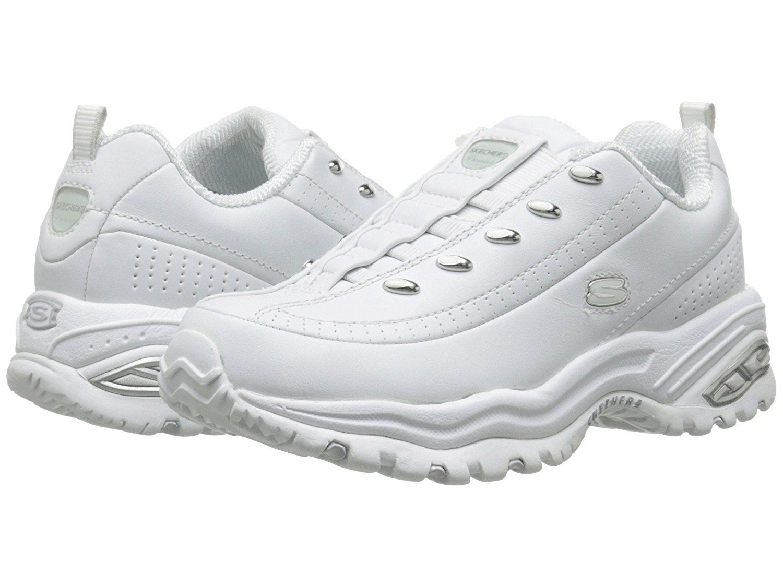 Women's Skechers Sport Energy White Leather Lace Up Sneaker Size 10M