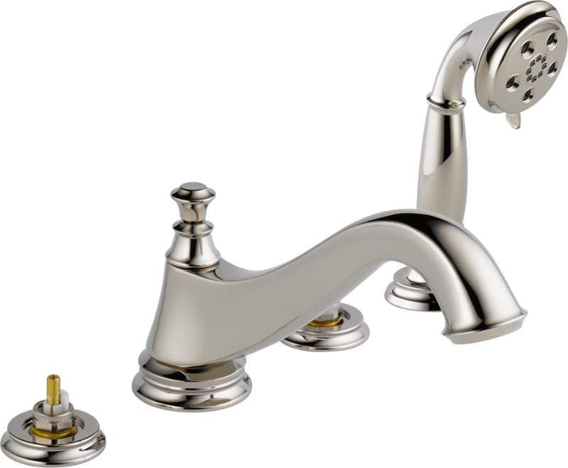 View the Delta T4795-LHP Cassidy Roman Tub Faucet Trim with Hand ...