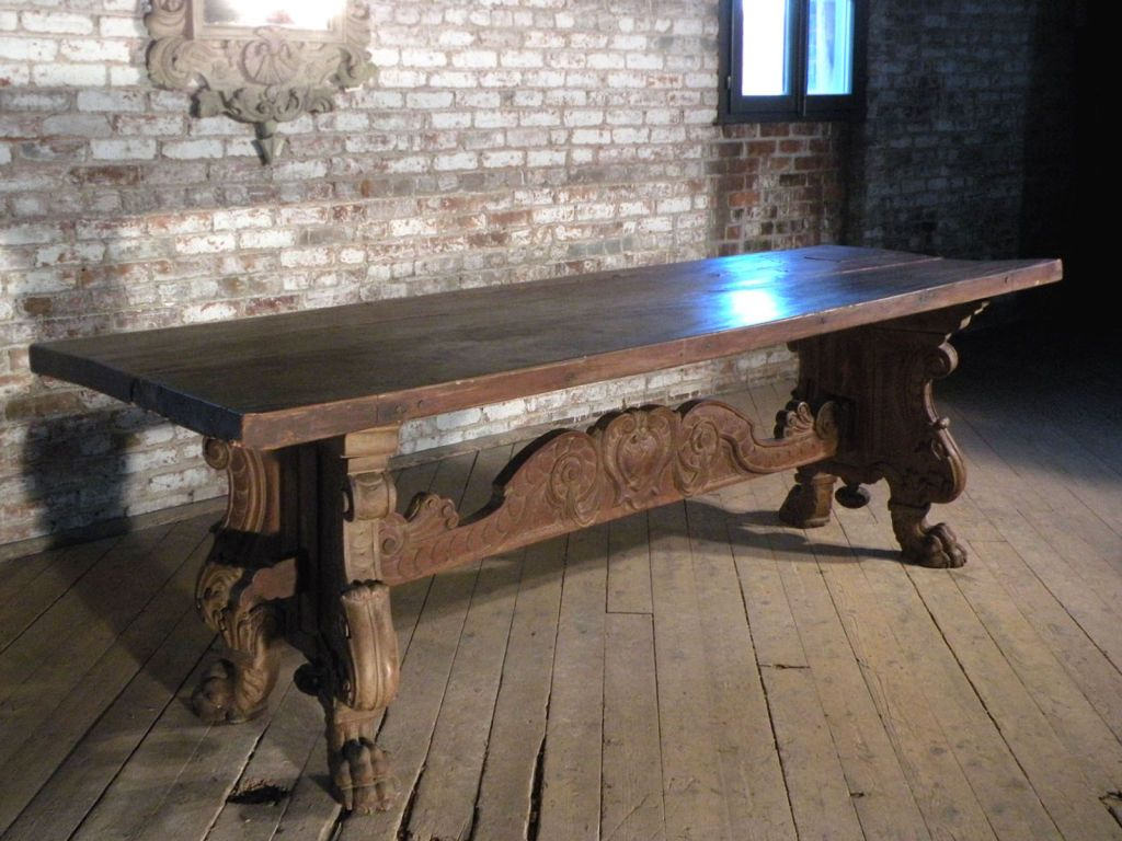italian renaissance style refectory table italian renaissance