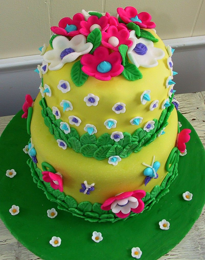 Awesome Birthday Cake And Flower Birthday Cake With A Picture On It Funny Birthday Cards Online Necthendildamsfinfo