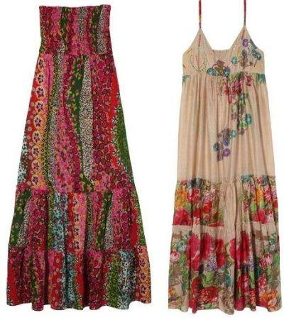 Vestido de fiesta hippie chic para mujer