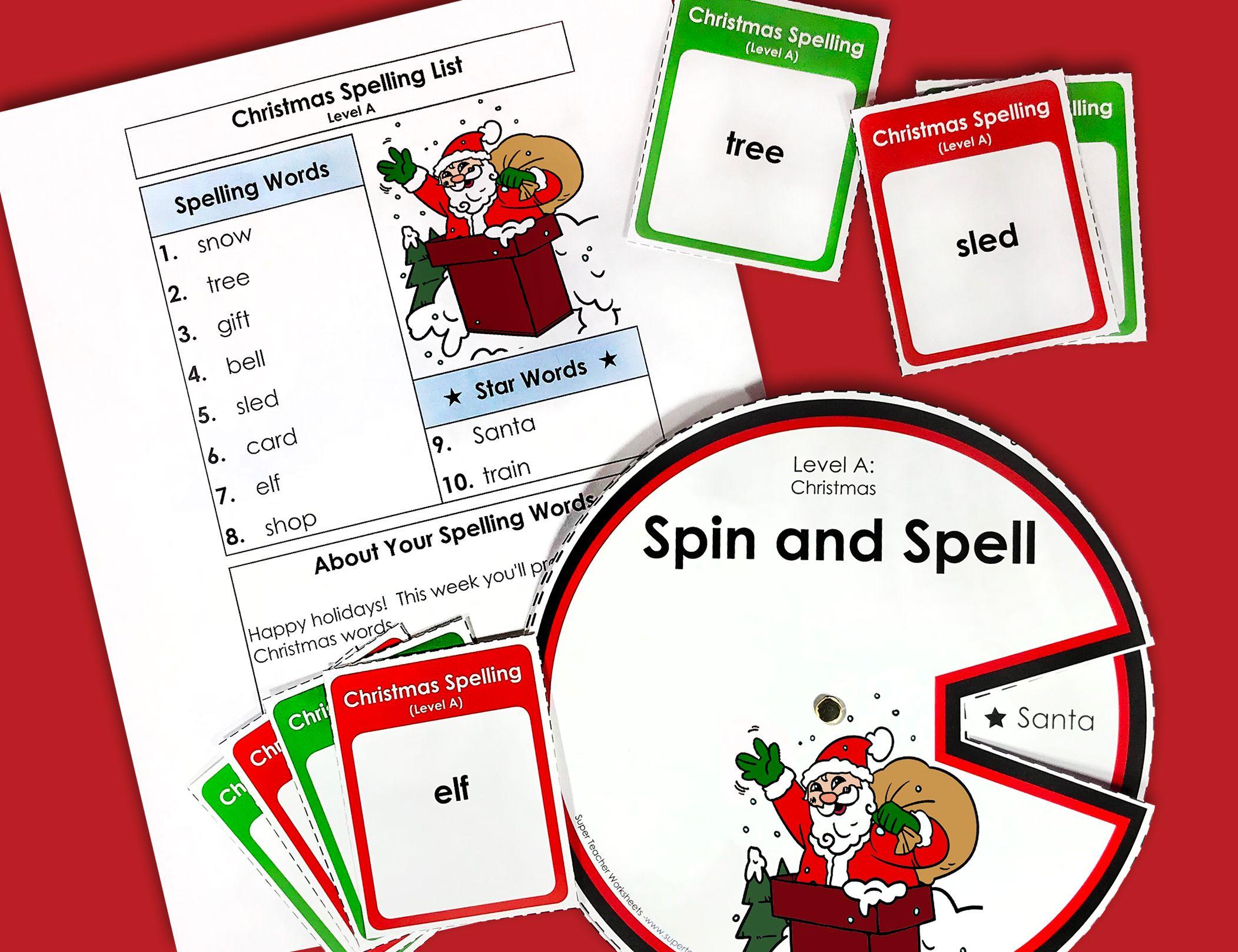 Christmas Spelling Units Super Teacher Worksheets Super Teacher Teacher Worksheets [ 1618 x 2103 Pixel ]