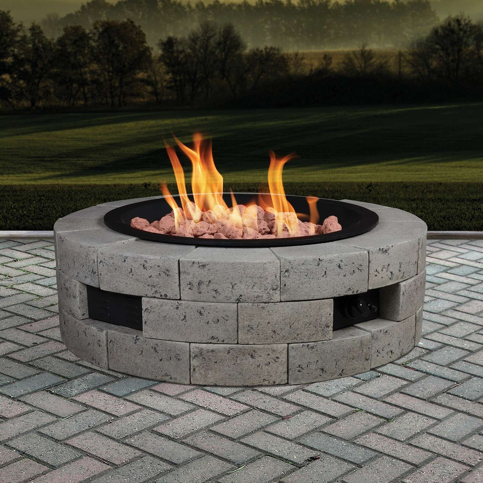 Lowest Price On Bond Manufacturing 35 Round Gas Fire Table 66926 Shop Today Natural Gas Fire Pit Cinder Block Fire Pit Outside Fire Pits