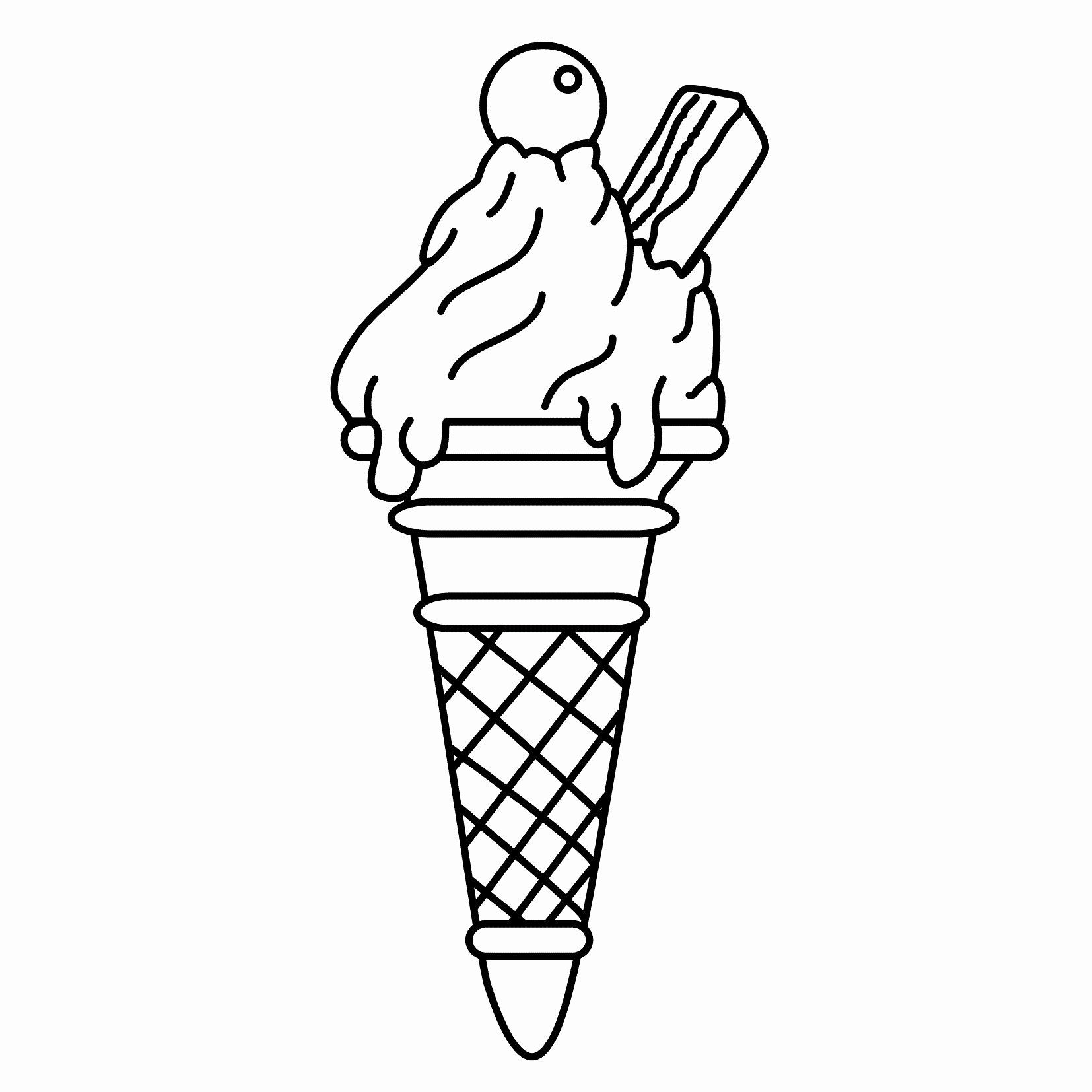 Icecream Cone Coloring Page Inspirational Free Printable Ice Cream