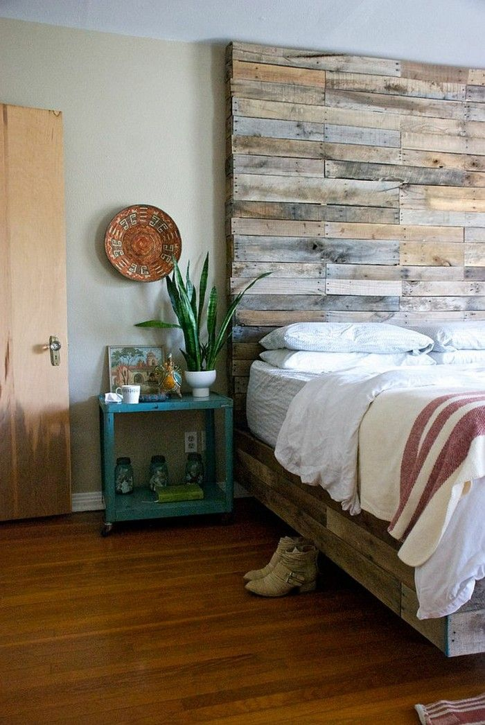 diy ideen hölzernes bettkopfteil selber machen Schlafzimmer - schlafzimmer ideen selber machen